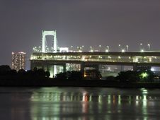 Free Night View Of Tokyo Bridge Royalty Free Stock Photo - 9771345