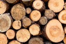 Free Woodstack Background Royalty Free Stock Photography - 9771427
