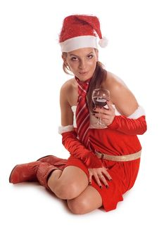 Free Santa Girl Royalty Free Stock Photos - 9771588