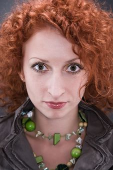 Free Curly Red Hair Stock Photography - 9771822