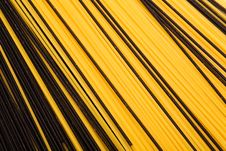 Free Black And Yellow Pasta Royalty Free Stock Photos - 9772588