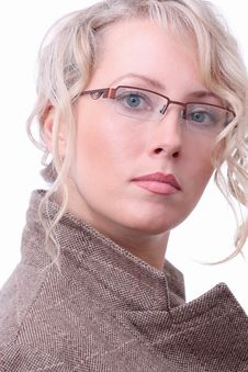 Free Blonde In Glasses Stock Images - 9772654