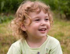 Free Laughing Little Girl Stock Photography - 9772662