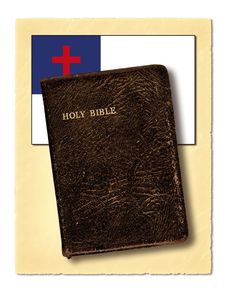 Free Flag And Holy Bible Stock Images - 9773594