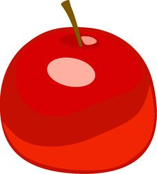 Free Simple  Red Apple Royalty Free Stock Photos - 9773638