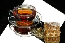 Free Tea & Honey Royalty Free Stock Photography - 9774387