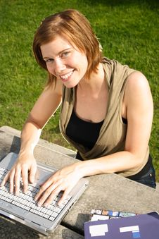 Free Typing On A Laptop Computer Royalty Free Stock Image - 9774716