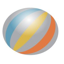 Free One Colorful Ball Royalty Free Stock Photography - 9775037