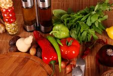 Free Green-stuff. Fresh Vegetables Stock Image - 9775201