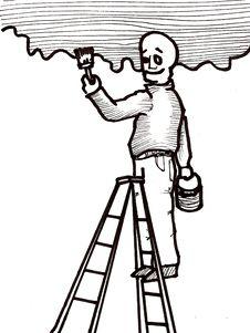 Free Handyman Painting Stock Image - 9775211
