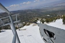 Mountain Ski Chair Lift Cable Royalty Free Stock Photography