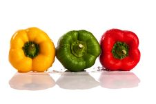 Free Three Fresh Peppers Royalty Free Stock Photography - 9776107