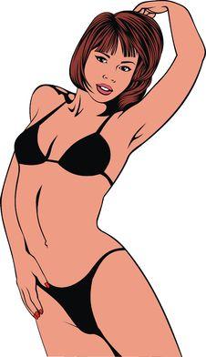 Bikini Girl Stock Photo