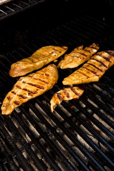 Free Chicken On The Barbeque Stock Photography - 9776662