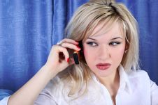 Free Girl Calling By Phone Royalty Free Stock Image - 9776816
