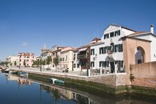 Free Venetian Village Royalty Free Stock Image - 9776986