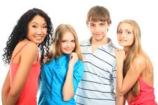 Holidays With Friends Royalty Free Stock Photos