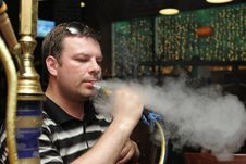 Free Man In Hookah House Stock Photography - 9777212