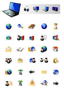 Free Icons Collection Royalty Free Stock Images - 9777369