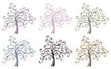 Free Colored Magic Trees Stock Photography - 9777402