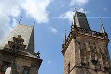 Tower On Charles Bridge Prague Stock Photo