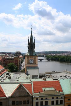 Prague Roof Tops Royalty Free Stock Image