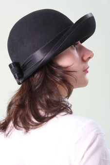 Free The Girl In A Hat Royalty Free Stock Photography - 9778897