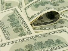 Stack Of American Dollars Royalty Free Stock Photo