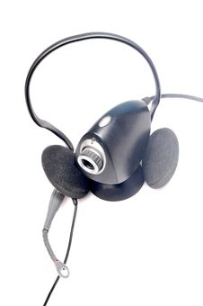 Free Head Phones And Web Camera Stock Photography - 9779842