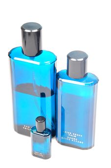 Blue Bottles Royalty Free Stock Photo
