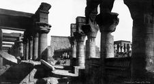 Free Philae 1912 View From The Vestibule Of Nectanebo Stock Photos - 97787573