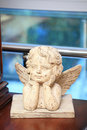 Free Sculpture Of The Wooden Angel Royalty Free Stock Images - 9780089