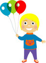 Free Boy With Balloons Stock Images - 9785134