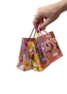 Free Colorful Shopping Bags Royalty Free Stock Image - 9780076