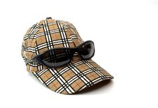 Free Sport Cap With Sunglasses Royalty Free Stock Photography - 9780107