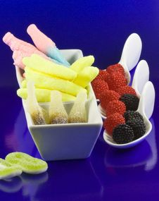 Free Variable Jellies And Others On Spoons Stock Photo - 9780970