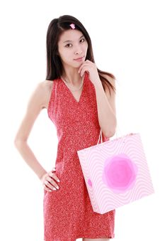 Free Asian Shopping Girl Stock Images - 9780984