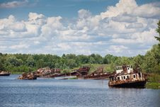 Free Blasted Rusty Boats Stock Image - 9781281