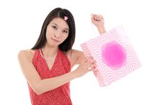 Free Asian Shopping Girl Stock Photography - 9781562