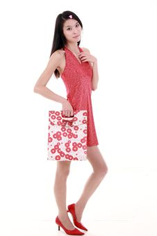 Free Asian Young Woman Shopping Royalty Free Stock Photography - 9781617