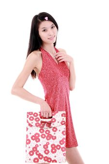 Free Asian Shopping Girl Royalty Free Stock Images - 9781629