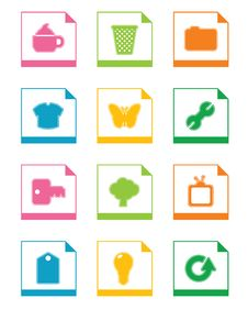 Free Icon Set 2 Royalty Free Stock Photo - 9781865