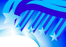 Free Flying Blue Stars Royalty Free Stock Photography - 9782257