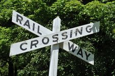 Free Railway Crossing Sign Stock Image - 9783031