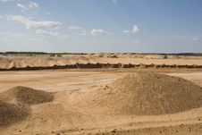 Sand Extraction Site Royalty Free Stock Image