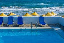 Free Pool Next To The Sea Royalty Free Stock Photos - 9783788