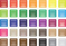 Free 35 Square Glass Buttons Stock Photography - 9784862