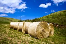 Free Hay Bales Royalty Free Stock Image - 9785006