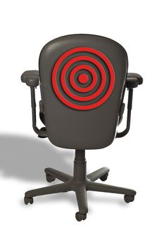 Free Chair With Target On It. Stock Photos - 9786403
