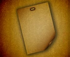 Free Blank Paper Against A Grungy Background Stock Images - 9786634